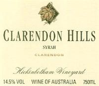 Clarendon Hills Syrah Hickinbotham